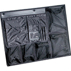 Pelican Lid Organizer, for 1600, 1610 and 1620 Cases, Made of Nylon, Mesh Pockets w/Nylon Zippers