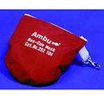 Res-Cue CPR Barrier Mask, w/One-Way Filter, Gloves, Wipes, Oxygen Inlet, Head Strap, Red Soft Case