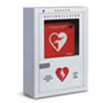 AED Cabinet, Wall Mount, Dim: 16inch x 22inch x 6inch, Audible Alarm, Flashing Lights