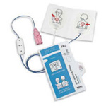 Defibrillator Pads, Pediatric, for Philips FR2+ AED, 48inch leadwire, Child to 8 years or 55 lbs.