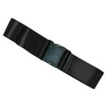 Straps, Nylon, Plastic Side Release Buckle, 2 Piece w/Metal Non-Swivel Speed Clip, Black, 7 feet