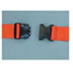 Straps, Polypropylene, Plastic Side Release Buckle, 2 Piece w/Loop Ends, Orange, 5 feet