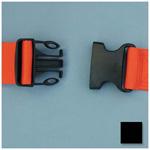 Straps, Polypropylene, Plastic Side Release Buckle, 2 Piece w/Loop Ends, Black, 5 feet