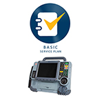 Physio-Control Lifepak 15, 12 lead w/ Pacing, Basic Service Plan - 1 year