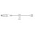IV Extension Set, Small Bore w/ULTRASITE Needlefree Valve, Male Luer Lock Connector, 8inch