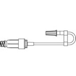 Rigid J Loop Extension Tubing w/ULTRASITE Needlefree Valve
