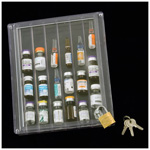 Narcotic Box, Clear Top with Lock, 6.25inch W x  7.25inch L x 1.125inch H