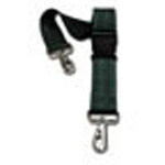 Straps, Nylon, Plastic Side Release Buckle, 2 Piece w/Metal Swivel Speed Clip, Green, 7 feet