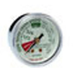 Oxygen Gauge Back Port, 1-1/2inch OD, 1/8inch NPT, 4000 psi, Chrome