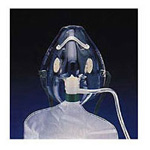 Adult Nonrebreathing Mask w/7 Foot Oxygen Supply Tubing, Adj Nose Clip