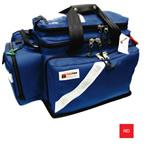 Trauma/Oxygen Deployment Bag, 23inch L x 13 1/2inch W x 14inch D, Red, Fluid Resistant