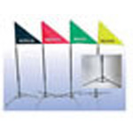 Treatment Area Indentification Flag Kit, 4 Flags w/ Fold Up Poles, Durable Carry Bag