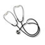 Dual-Head/Teaching Stethoscope, Boxed, Black