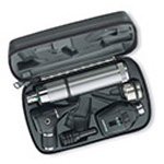Diagnostic Set w/Coaxial Ophthalmoscope, MacroView Otoscope w/Throat Illuminator, Direct Plugin Handle in Hard Case