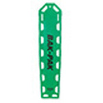 Bak-Pak Ultra Backboard, with Pins and Straps, 72inch x 16inch x 3/4inch, Kelly Green
