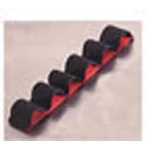 Elastic Strip Unit, Attaches To Any Velcro Loop Surface, Red, Six Loop
