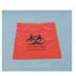 Biohazard Waste Bag, 2 mil, Specimen, Zip Closure, Red with Biohazard Symbol, 12inch x 15inch