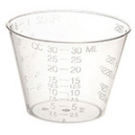 Medicine Cup, Graduated, Translucent, 1oz