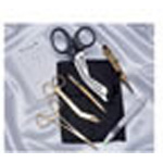 Rescue Gold Holster Set, Nylon, Gold Plated Instruments, Snap Belt Loop, 7inch x 5inch x 1/2inch