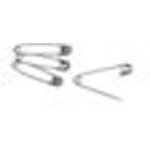 Safety Pins, Nickel-Plated Steel, 1 1/2inch L, Size 2