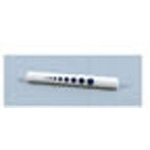 Penlight, w/Blue Pupil Gauge, Disposable, 5inch long x 1/2 inch diameter, White*Discontinued*