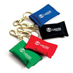 Face Shield CPR Barrier on Key Ring, Assorted Color, 25/pk