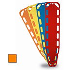 Xtra Backboards, 14 Pins, 71inch L x 15.75inch W x 1.85inch D, Orange