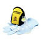 CPR Pocket Mask, Pediatric, w/Gloves and Wipe, Blue/Yellow Soft Case