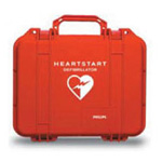 Carrying Case, Waterproof, Hard Plastic Case, for Philips Heart-Start Onsite Defibrillator, Red