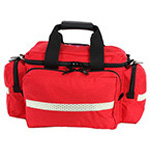 LA Rescue Trauma Attack Pack, Reflexite Trim, 20inch L x 13inch W x 11inch H, Red