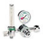 Oxygen Flowmeter Regulator, 1/2-15 LPM, CGA-540 Handtight Nut and Nipple Inlet Connection