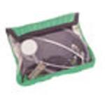 Medium Organizer Pocket, 8inch L x 1 1/2inch W x 6inch D, Clear Front, Velcro Opening, Green