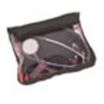 Medium Organizer Pocket, 8inch L x 1 1/2inch W x 6inch D, Clear Front, Velcro Opening, Black
