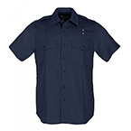 5.11 Men's PDU Twill Class A Short Sleeve Shirt, Midnight Navy, LG/SHORT