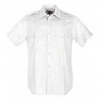 5.11, Shirt, PDU Twill Class A, Short Sleeve, Men, White, XL/TALL