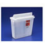In-Room Sharps Container, with Always-Open Lid, Transparent Red, 5 Quart