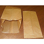 Trash Can Liners, Waxed, 16-20 qt, 8 3/4inch x 7 3/4inch x 17inch, Brown