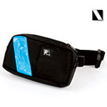 EMS-2 WaistPak Fanny Pack, Black w/White Reflective Stripe