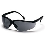 Pypramex Venture II Goggles, Scratch Resistant Lens, Clear Poly Lens, Black Frame
