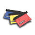 Small Organizer Pocket, 6inch x 8inch, Clear Vinyl Front, YKK Coil Zipper, Red