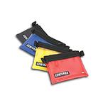 Small Organizer Pocket, 6inch x 8inch, Clear Vinyl Front, YKK Coil Zipper, Black