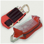 Thomas IV Pouch w/Clear Window, 11inch x 4inch x 4inch H, Orange Vinyl