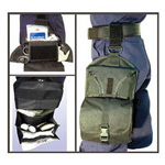 TAC-Trauma Holster, Reversible Elastic Leg Straps, 1000D Cordura Nylon, Black