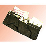 Wall Organizer Unit, Five Slash Pockets, Long Velcro Strip, 7inch x 18inch, Black