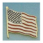 Uniform Pin, American Flag, 3/8inch x 1 3/4inch