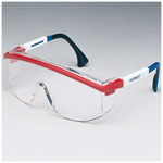 Astrospec 3000 Safety Glasses, Clear Lens, Uvextreme Anti-fog Coating, Spatula Temples, Blue Frame