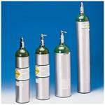 Oxygen Cylinder, Aluminum, Toggle, Empty, Size C