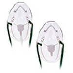 Mask, Elongated, Medium Concentration, w/7 foot O2Tubing, Adj Nose Clip, Pediatric