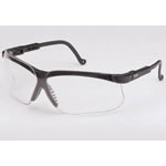 Genesis Safety Glasses, Uvextreme Anti-Fog coating, Black Frame, Clear Lens