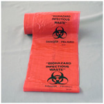 Biohazard Labels, 1inch Round, Orange w/Black, 500/Roll